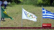 Olympic torch lighting ceremony held in historic home city of Olympics