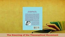 PDF  The Dawning of the Theosophical Movement Free Books