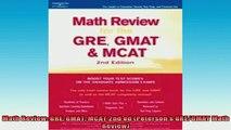 READ FREE Ebooks  Math Review GRE GMAT MCAT 2nd ed Petersons GREGMAT Math Review Full EBook