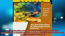 READ book  An Introduction to Management Science Quantitative Approaches to Decision Making Revised Free Online