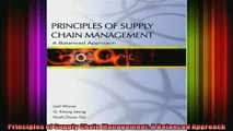 READ Ebooks FREE  Principles of Supply Chain Management A Balanced Approach Full Free