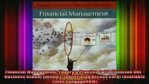 Full Free PDF Downlaod  Financial Management Theory  Practice with Thomson ONE  Business School Edition 1Year Full Ebook Online Free