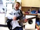 "Sam Air Guitars to Rainbows ""All Night Long"""