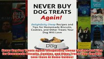 Free   Never Buy Dog Treats Again Delightfully Cheap Recipes and Tips for Homemade Biscuits Read Download