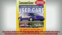 READ book  Complete Guide to Used Cars 2002 Consumer Guide Used Car Book Complete Guide to Used  FREE BOOOK ONLINE