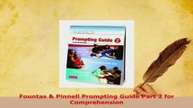 PDF  Fountas  Pinnell Prompting Guide Part 2 for Comprehension Download Full Ebook