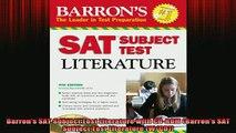 Free Full PDF Downlaod  Barrons SAT Subject Test Literature with CDROM Barrons SAT Subject Test Literature Full Ebook Online Free