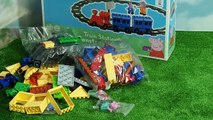 peppa pig toys - Peppa Pig Blocks Mega railway unboxing toys. Toy For Kids Peppa collection