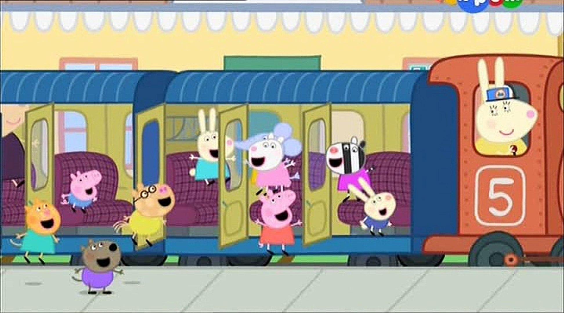 Свинка Пеппа- Поездка на поезде- The Train Ride -Все серии подряд Свинка Пеппа