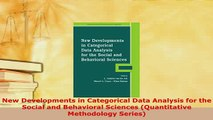 Download  New Developments in Categorical Data Analysis for the Social and Behavioral Sciences Read Online