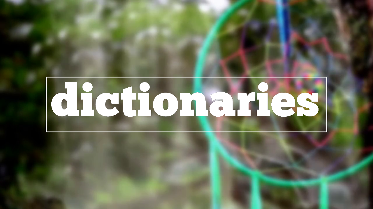 How to spell dictionaries