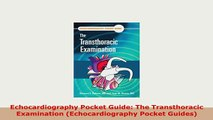 PDF  Echocardiography Pocket Guide The Transthoracic Examination Echocardiography Pocket Read Online