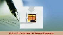 Download  Color Environment  Human Response PDF Book Free