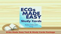 Download  ECGs Made Easy Text  Study Cards Package Free Books