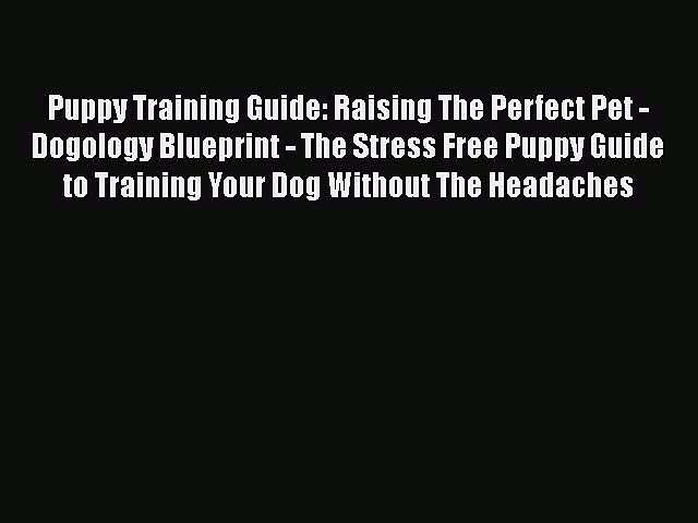 Download Puppy Training Guide: Raising The Perfect Pet – Dogology Blueprint – The Stress Free