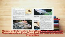 Read  Manual of Fish Health Everything You Need to Know About Aquarium Fish Their Environment Ebook Free