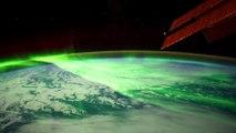 Des aurores boréales filmées depuis l'espace
