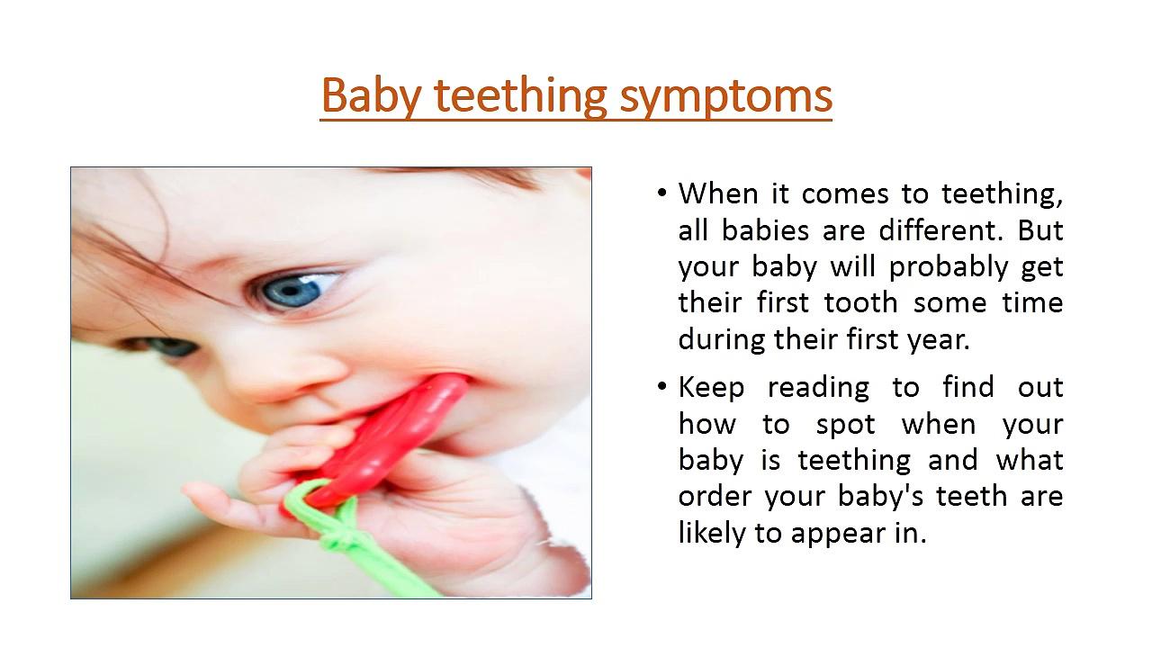 Baby teething symptoms