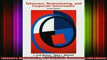 PDF] Takeovers, Restructuring, and Corporate Governance (4th