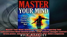 FREE EBOOK ONLINE  Master Your Mind Achieve Greatness by Powering Your Subconscious Mind mental power mind Full Free