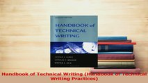 Read  Handbook of Technical Writing Handbook of Technical Writing Practices Ebook Free