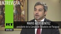 Entrevista con Mario Abdo Benítez, presidente de la Cámara de Senadores de Paraguay