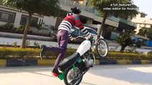 Dangerous Bike wheeling by Shani 302 - Bike wheeling new video - Pakistan Wheeling