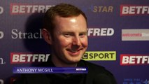 Anthony McGill to play Mark Selby at the Betfred World Snooker Championship
