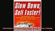READ book  Slow Down Sell Faster Understand Your Customers Buying Process and Maximize Your Sales READ ONLINE