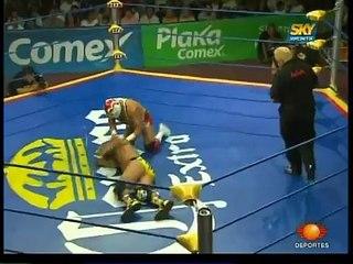 AAA-SinLimite 2009-06-13 Triplemania-XVII 06 AAA World Heavyweight Title -  El Mes?as vs. Dr. Wagner Jr