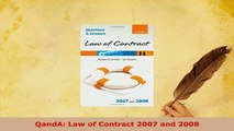 PDF  QandA Law of Contract 2007 and 2008 Free Books