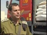 Transfert de denrées à Gaza