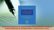 PDF  Commencement of Insolvency Proceedings Oxford International  Comparative Insolvency Law Free Books