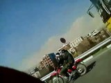 Huge number of motorised Basij moving towards protest areas in central Tehran 25 Bahman Feb 14, 2011