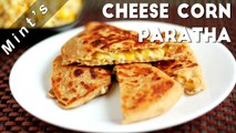 Cheese Corn Pizza Paratha Recipe In Hindi-Kids Snacks Recipes-Indian Snacks Recipes-Ep-113