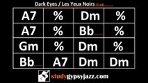 Gypsy Jazz (Jazz Manouche) Backing Track - Dark Eyes / Les Yeux Noirs (Medium)