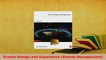 Download  Events Design and Experience Events Management PDF Full Ebook