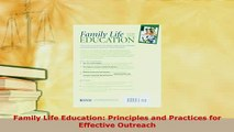 Download  Family Life Education Principles and Practices for Effective Outreach Free Books