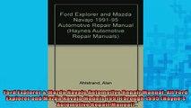 READ book  Ford Explorer  Mazda Navajo Automotive Repair Manual All Ford Explorer and Mazda Navajo  FREE BOOOK ONLINE