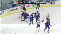 Johnny Oduya tip in goal 1-1 Chicago Blackhawks vs St. Louis Blues 4/17/14 NHL Hockey.
