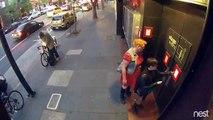 Un homme coupe un antivol à la scie circulaire pour voler un vélo !
