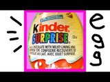 Kinder Surprise Egg unboxing with Disney Cars on surprise toys and eggs in Birth