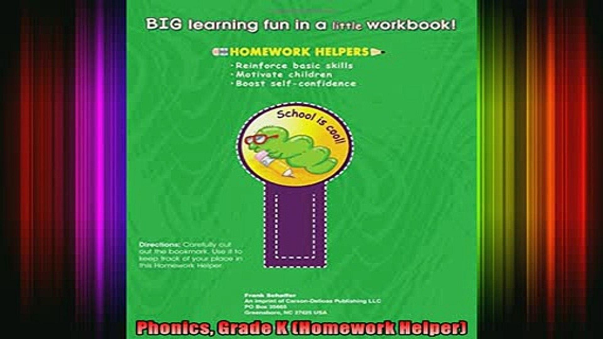 Free Full PDF Downlaod  Phonics Grade K Homework Helper Full EBook