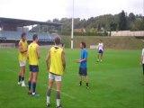 Situation entraînement Rugby à 7 : exercice des lâches