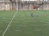 Situation entraînement Rugby à 7 : rectangle - passe