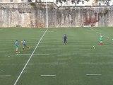 Situation entraînement Rugby à 7 : rectangle décalé - passe et suit