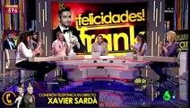 Frank Blanco imita a Xavier Sardá para agradecerle su felicitación en Zapeando