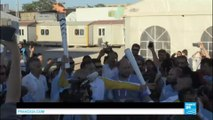 A flame of Hope: Syrian refugee carries Olympic flame through Greek migrant camp