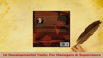 Read  16 Developmental Tests For Managers  Supervisors Ebook Free