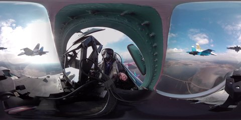 RT News: 360° cockpit video 'Russian Knights' aerobatic rehearsals